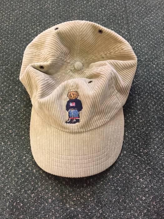 Polo Ralph Lauren Vintage Polo Bear Corduroy Hat Size one size ... 3fb1bc97ef4
