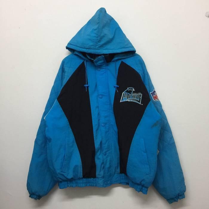 b1e228e97 Vintage Vintage Carolina Panthers NFL Pro Line Starter Hooded Bomber Jacket  Size US XL   EU
