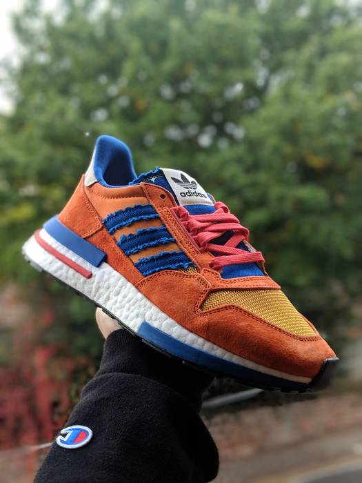 sale retailer 4bb37 f2071 Slide 1 of 7. Adidas Dragon Ball Z x adidas ZX 500 RM Son Goku Size US 6.5   EU