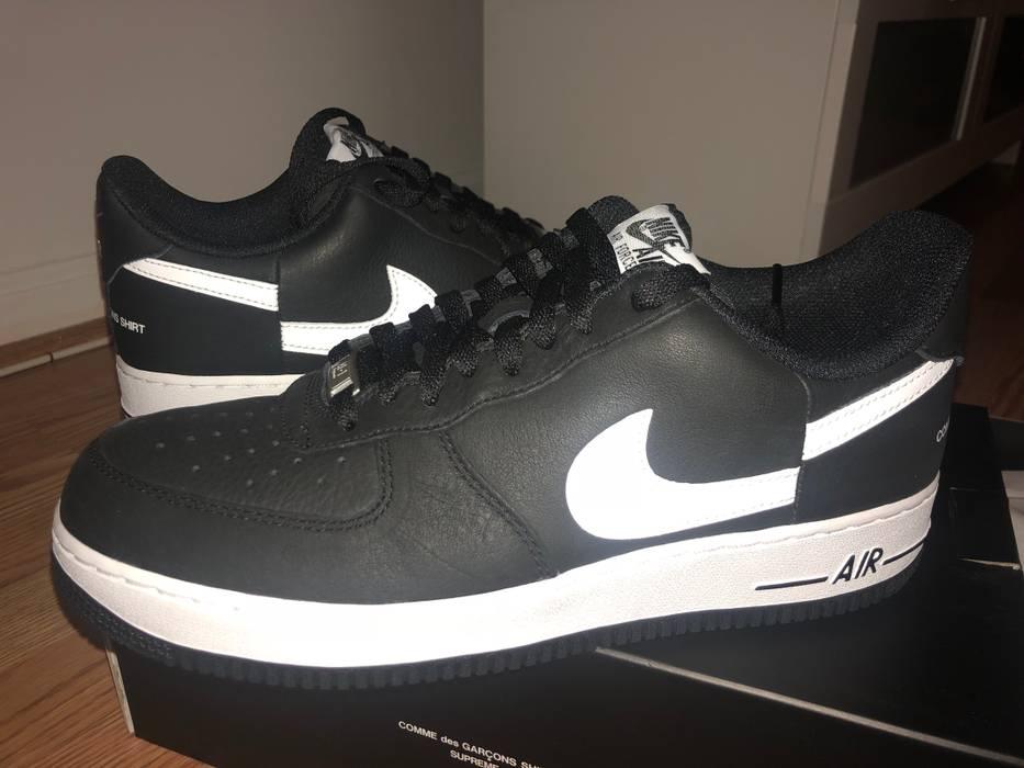 Supreme Supreme x Comme Des Garçons Nike Air Force 1 AF1 Black Size 9.5 Size  US a57d7cc16