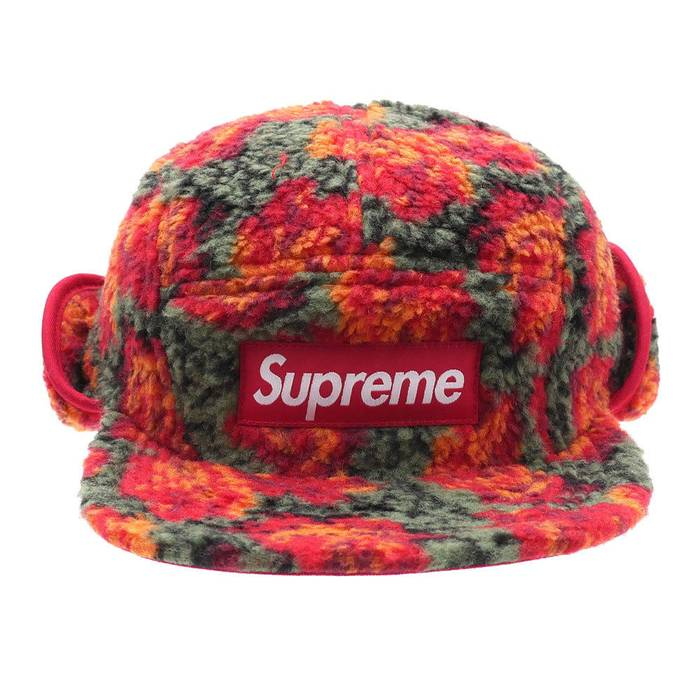 92e5ca378c4 Supreme Supreme Roses Sherpa Fleece Earflaps Hat Cap Small Medium Size ONE  SIZE