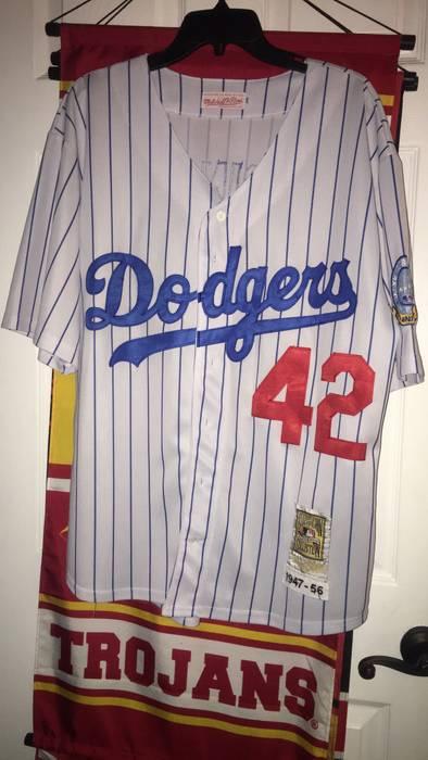 Mitchell   Ness Dodgers Pinstripe Jersey Size l - Shirts (Button Ups ... 7a206821777