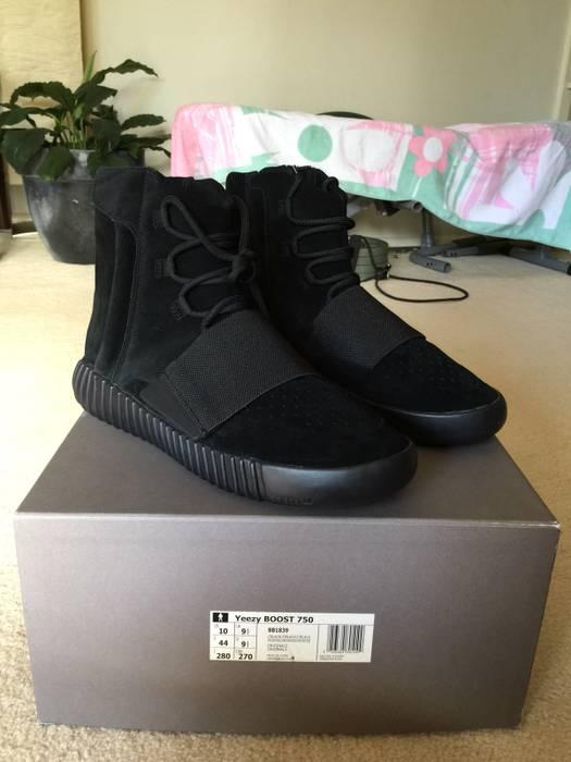 777869f4df526 Adidas Kanye West Yeezy Boost 750 Triple Black Size 10 - Hi-Top ...
