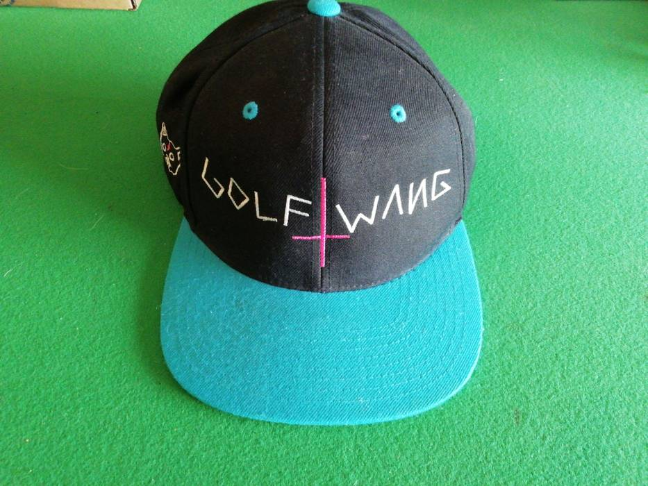 Golf Wang Golf Wang Snapback Cap Green Black Blue Cross Hat Odd ... a6cfe939599