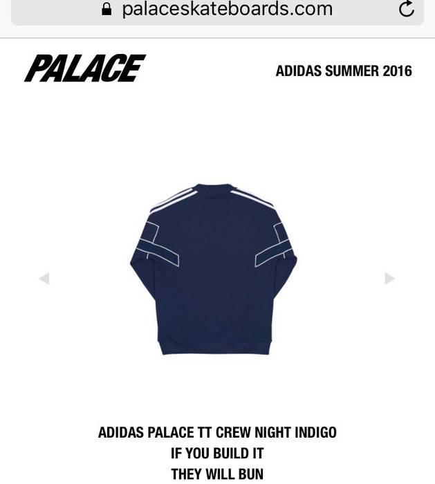 8fe63e1f2eca Adidas Adidas x Palace TT Crew (Night Indigo) Size l - Sweatshirts ...