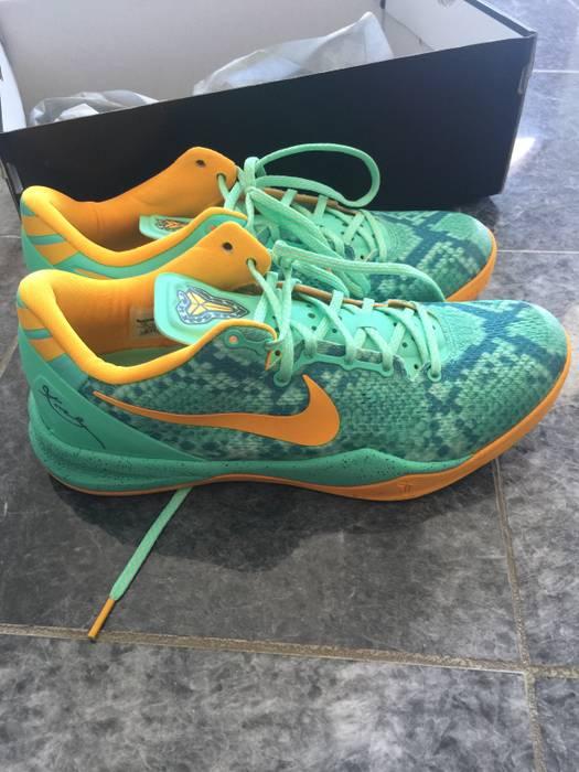 "e6b82b007547 Nike Nike Kobe VIII 8 System ""Green Glow"" Laser Orange Mineral Teal Size US"