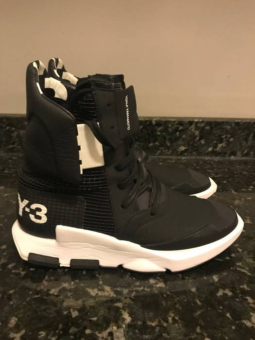 3485f4e8d8f1 Adidas Adidas Y-3 Yohji Yamamoto Black Noci High Top Sneakers Sz 10.5