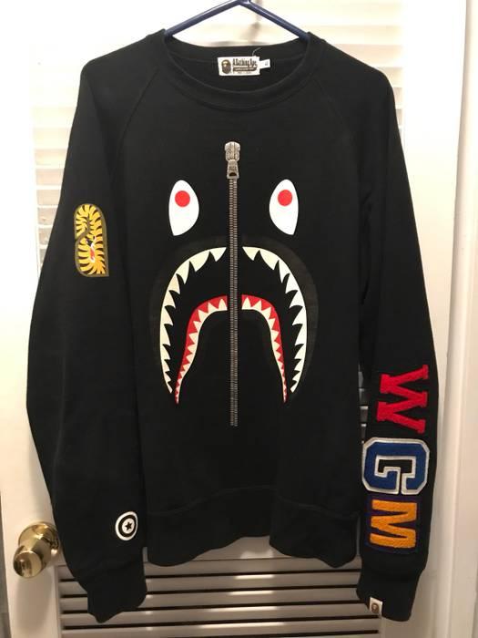 674766033f80 Bape Bape Shark Face Crewneck Size xl - Sweatshirts   Hoodies for ...