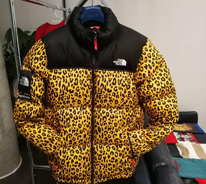 4ef1326005 Supreme X Tnf Leopard 700 Fill Nuptse Jacket Size L Parkas