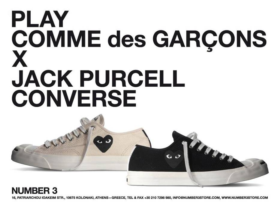 Comme Des Garcons Play CDG PLAY x Converse Jack Purcell Size 8 - Low ... f0ae07d53