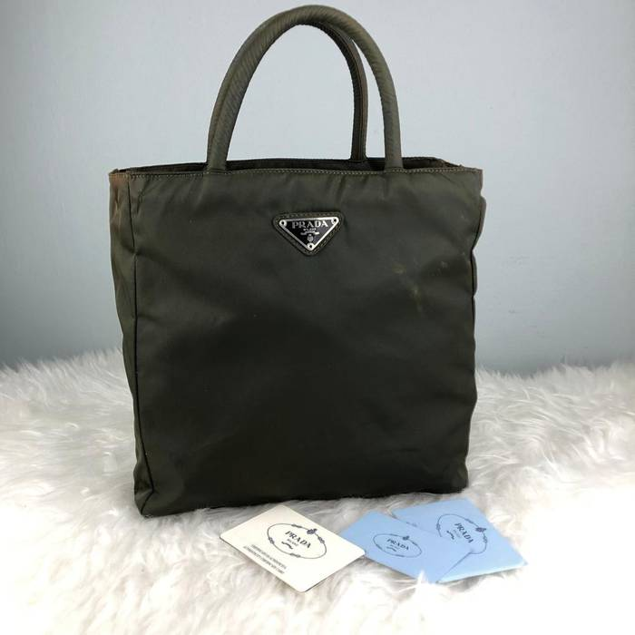 f3541806b943 Prada RARE   COLLECTION Authentic Prada Nylon Green Tote Bag   Prada ...