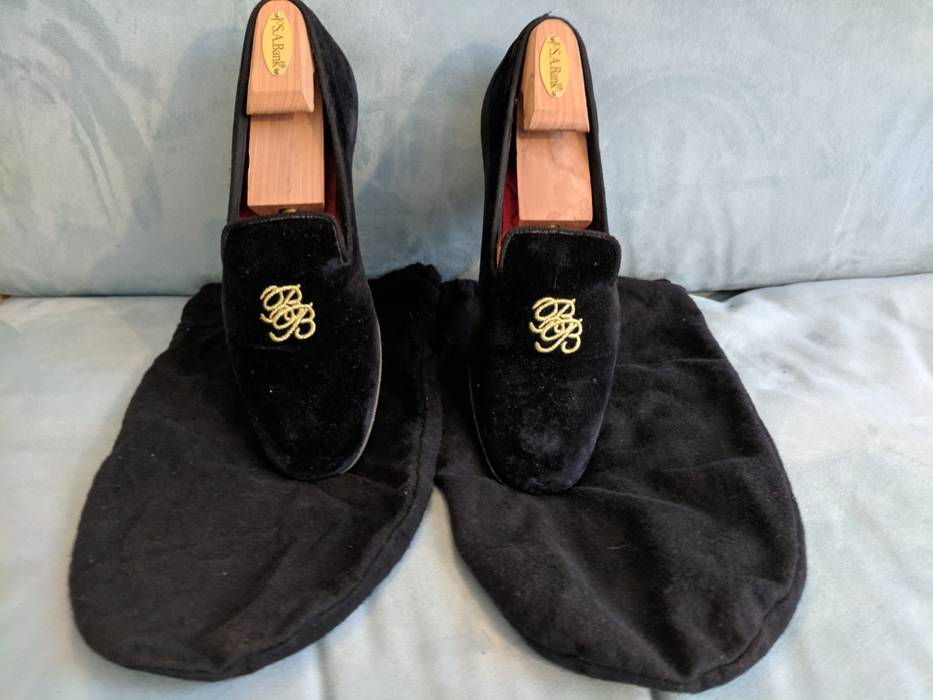 2881a445e0265 Peal And Co Brooks Brothers Peal   Co velvet slippers Size 9.5 ...