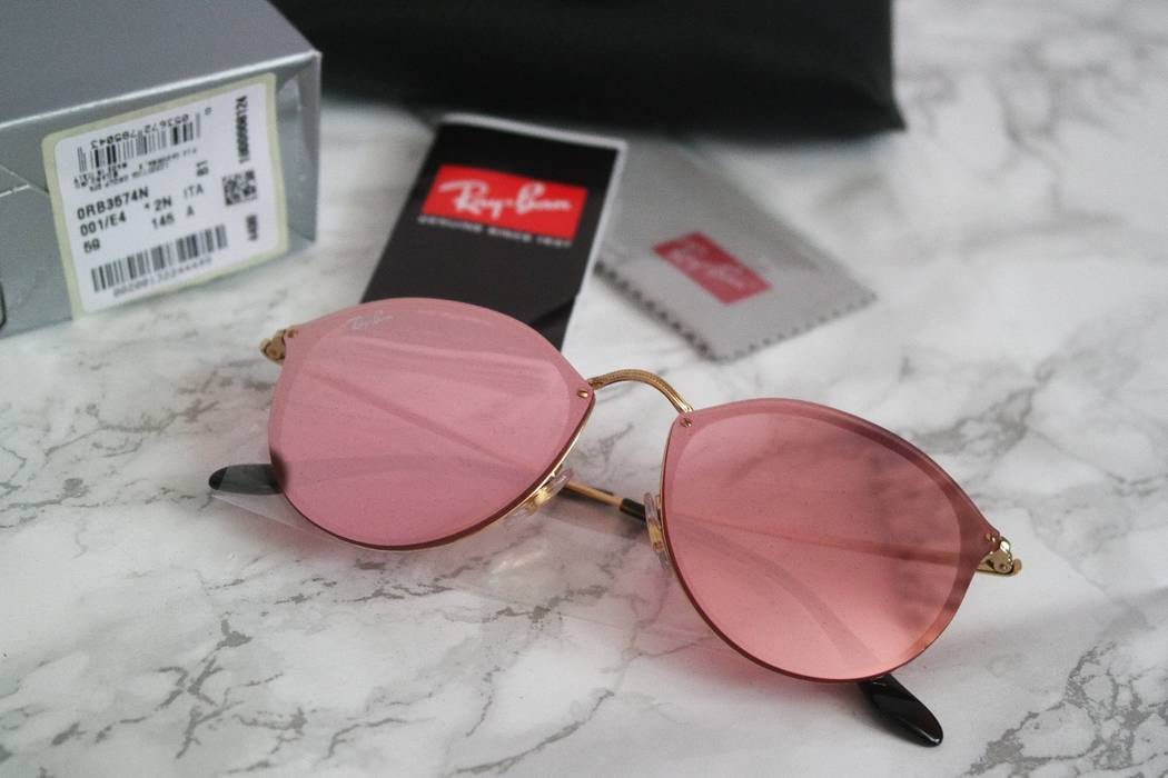 e03bc06626 RayBan. NEW Ray Ban Blaze Round Mirrored Pink Sunglasses. Size  ONE SIZE