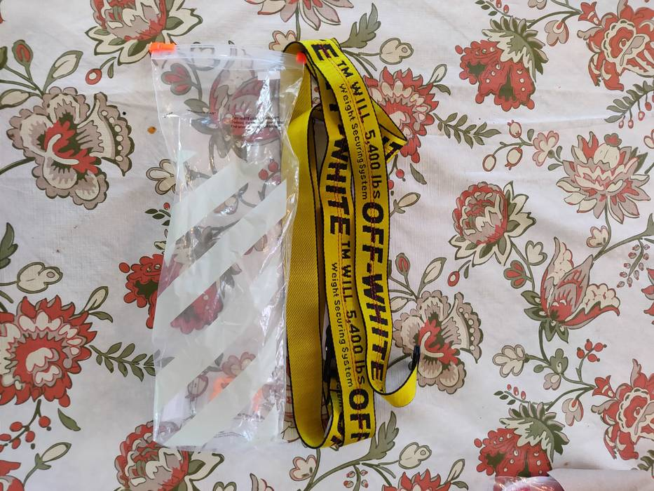 4a0b0941fa36 Off-White Yellow off white belt Size one size - Belts for Sale - Grailed