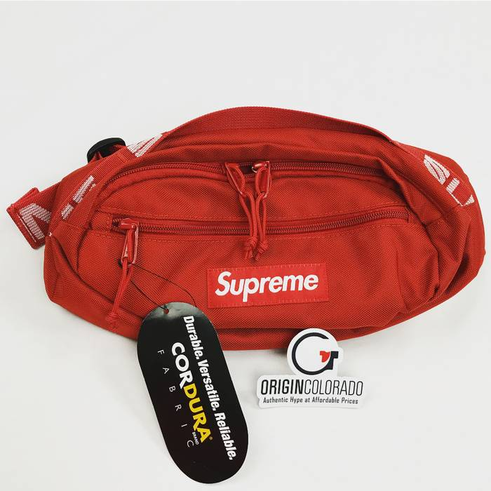 Supreme Waist Bag Red Ss18 Size One