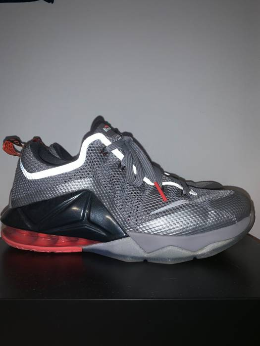 5e3e8ab63d2 Nike Nike LeBron 12 XII Wolf Grey Hot Lava Size 7 - Low-Top Sneakers ...
