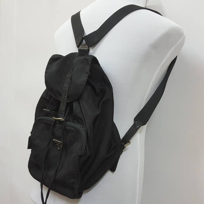 cc4f77cf9e7e Vintage Vintage authentic PRADA MILANO MADE IN ITALY nice design black bag  pack made in Italy