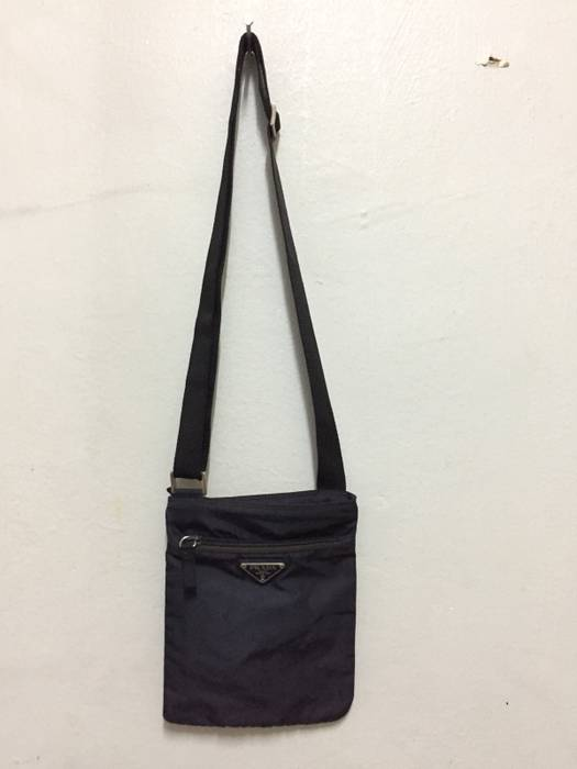 6bab4ab77843 Prada Authentic Prada Nylon Sling Bag Dark Blue Colour Size one size ...
