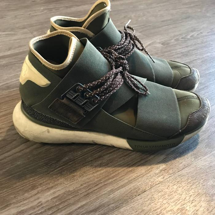 52ab9b44d Y-3 Qasa High - Olive Size 8 - Hi-Top Sneakers for Sale - Grailed