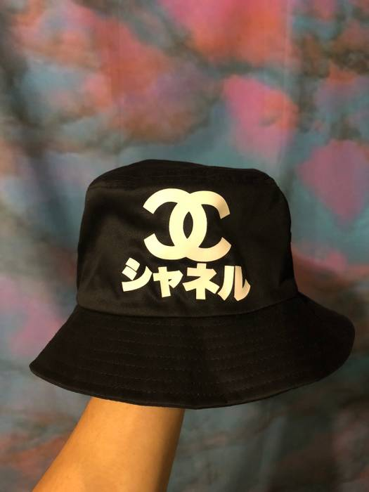 "Very Rare """"Chanel"""" Logo Bucket Hat Size one size - Hats for Sale ... 98879970459"