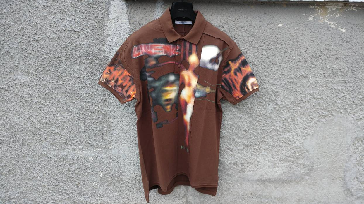 e70040c93e47 Givenchy  1300 Givenchy Heavy Metal Madonna Rottweiler Oversized Polo Shirt  size M (L) Size