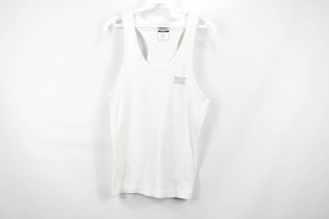4cf1e799361630 Vintage Vintage EVERLAST Mens Large Spell Out Tank Top Sleeveless Shirt  Ribbed White Size US L