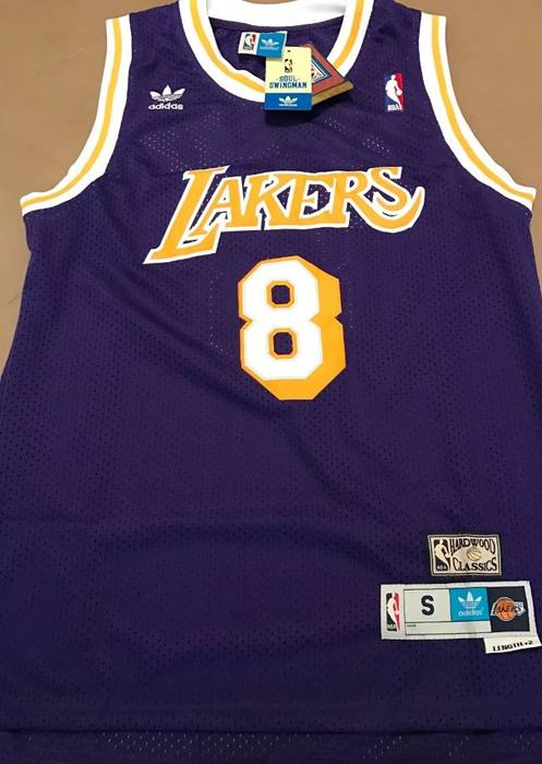 4c302523056 Adidas Throwback Alternate   Swingman  8 Kobe Bryant Jerseys Size US M   EU  48