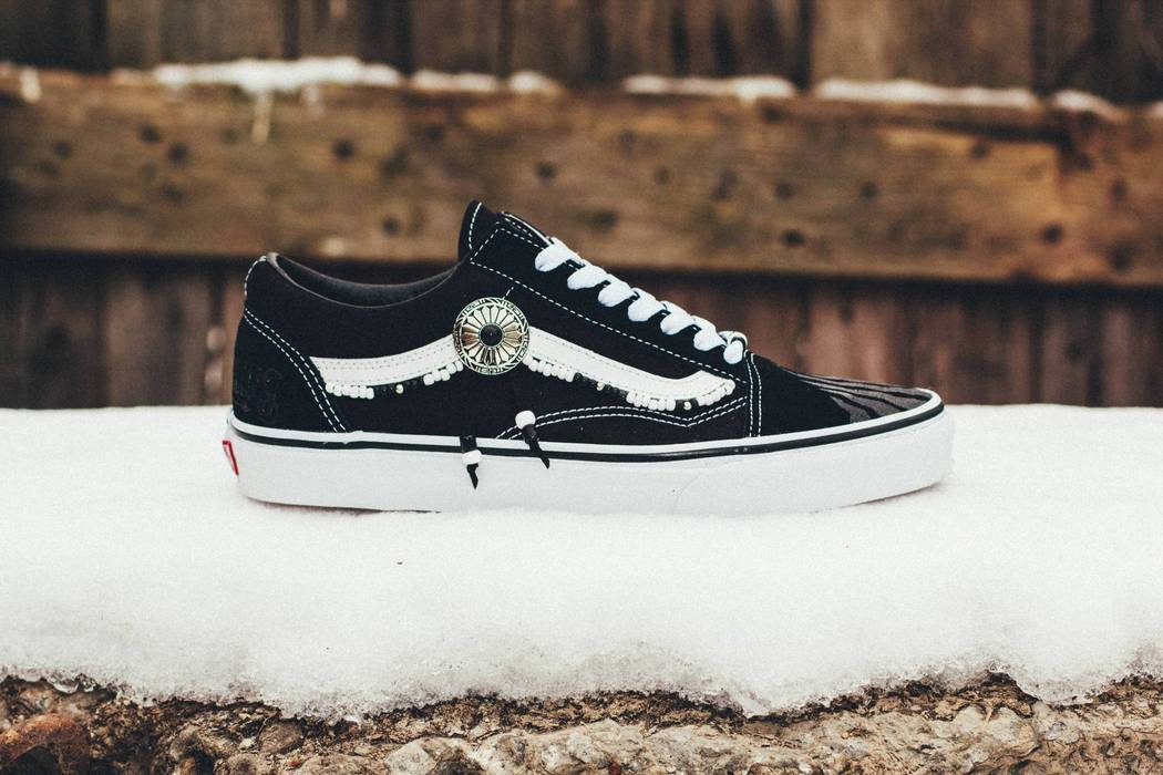 Vans BLACK TRACE STLLLV x VANS Old Skool Low Custom by Myroslav Fareniuk  Size US 10 6d3b81c0a
