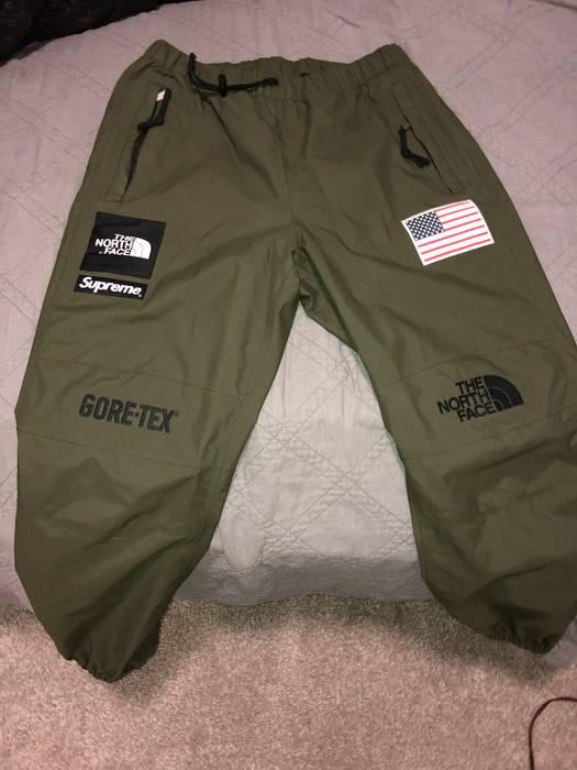 Supreme North Face Goretex Pants Olive Size Us 32 Eu 48