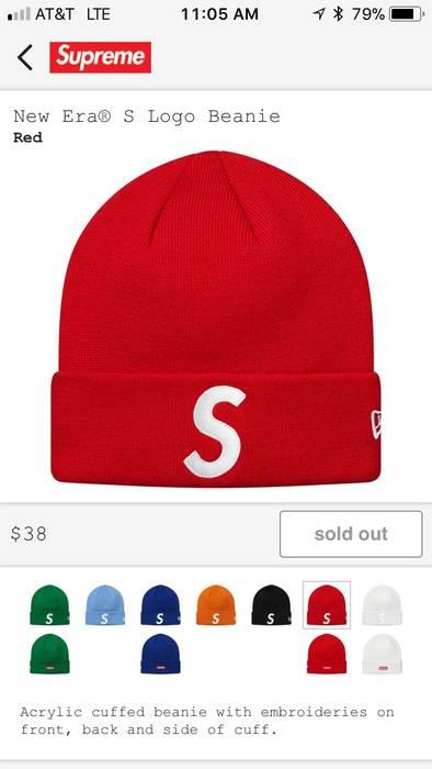 a3a56a5475d Supreme S Logo Beanie New Era X Supreme FW17 Size one size - Hats ...