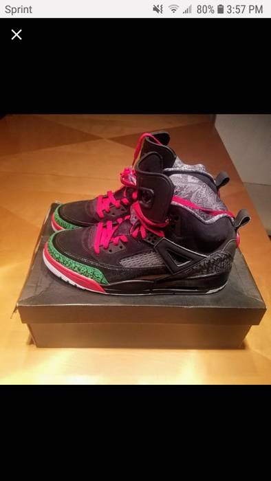 e5c8d5653a8f Nike 2014 Nike Jordan Spizike OREO Black Cool Grey White Sz 8 315371 ...