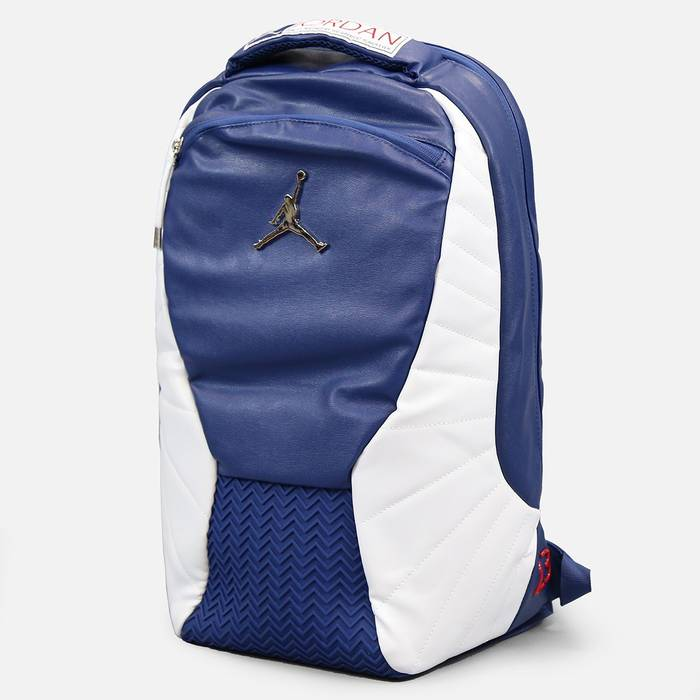 bc5b171ab499 Nike 2016 Nike Air Jordan 12 Retro French Blue Backpack Laptop School Book Bag  Size ONE