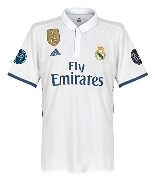 Soccer Jersey Ronaldo Soccer Jersey Real Madrid 2016 - 2017 Home Champions  League patchs Size US 85cc3f893