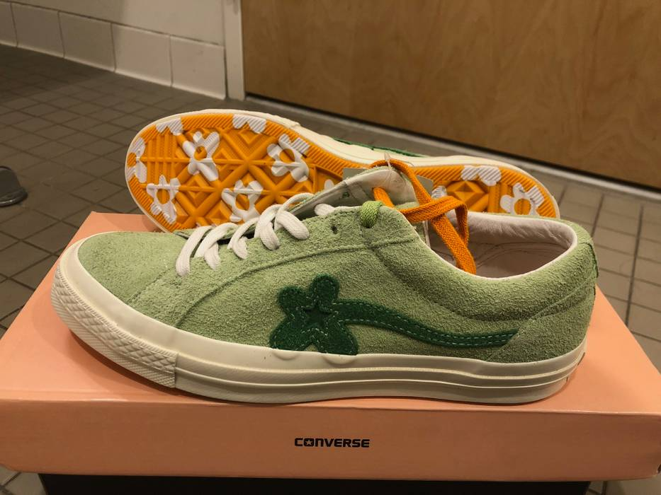 50bf87a64cd3d8 Converse Converse One Star x Tyler The Creator Golf Le Fleur Jade Lime Size  US 8.5