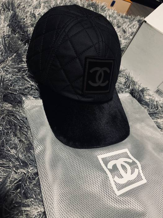 Chanel Chanel Quilted Logo Pony Hair Cap‼️last Drop‼ Size one ... 4c6a4729268