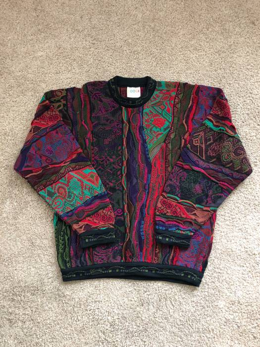 62aa1d5fb3 Coogi. CRAZY Vintage Lavender Multicolor Mercerized Cotton Knit Sweater