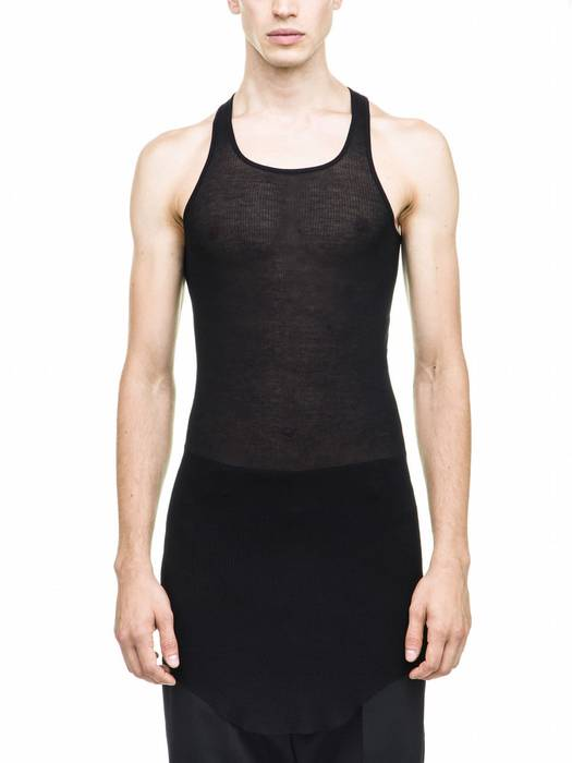 386b575570bc0 Rick Owens Rick Owens Men s Black Vicious Ribbed Tank Top Shirt L AUTHENTIC  Size US L