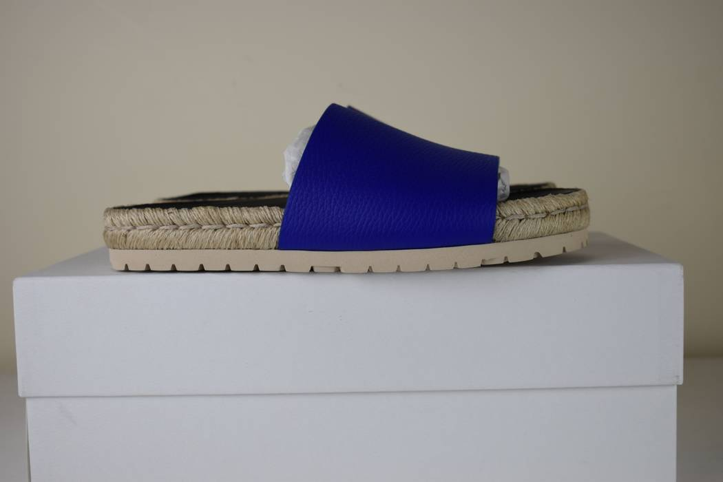 fd8aff76bc4 Balenciaga Balenciaga blue leather espadrille pool slides Size US 6.5   EU  39-40