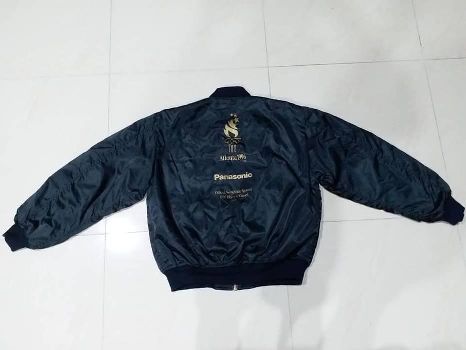 c56656f9a0d8 Usa Olympics 1996 ATLANTA Olympic Panasonic Bomber Jacket Winter Snow Black  Jacket Windbreaker Size L Rare