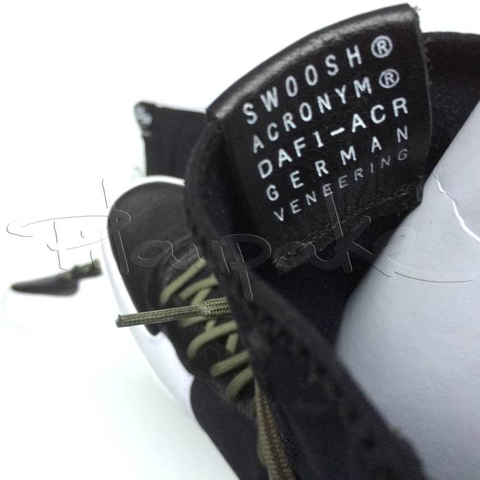 lowest price 6b0c4 61e55 Nike Nike NikeLab x Acronym Air Force 1 Downtown Hi SP black whitemedium  olive