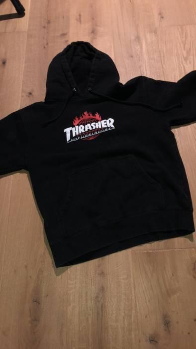 ca065a66b82e Thrasher Thrasher x Huf Worldwide Collab Black Hoodie Size US M   EU 48-50