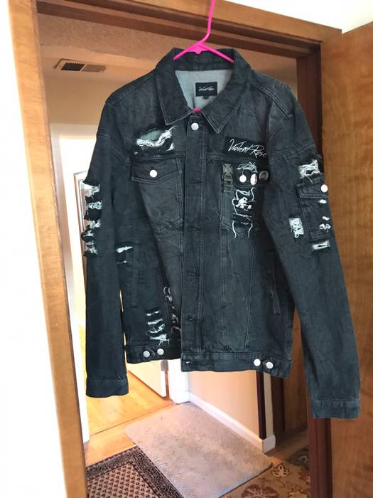 8421f17b45768 Violent Rose Kago Denim Jacket Size l - Denim Jackets for Sale - Grailed