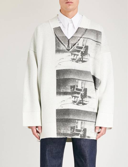 c4139f6c70 Raf Simons × Calvin Klein 205W39NYC. Electric Chair Oversized Sweater