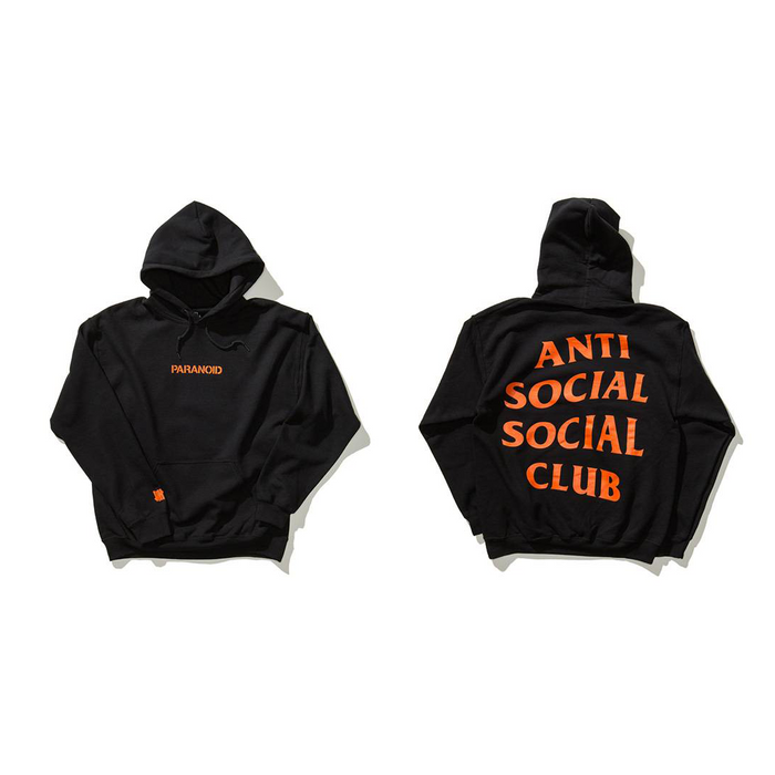 951c2c03ba48 Undefeated (M) Black Paranoid Hoodie ComplexCon Exclusive ASSC Anti Social  Social Club Size US