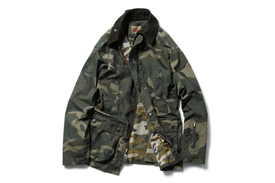 4382207717 Sophnet. Barbour x Sophnet Bedale Jacket Large Camo Japan Only Size US L    EU