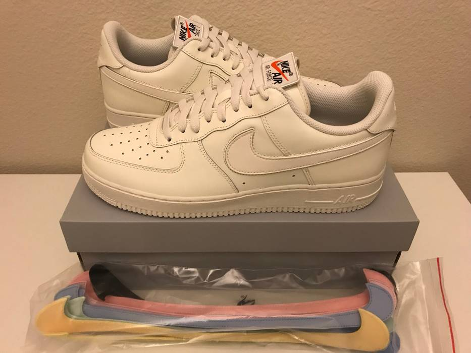 new style afc56 e68dd Nike Air Force 1 Low All Star Swoosh Pack Sail Size US 11   EU 44