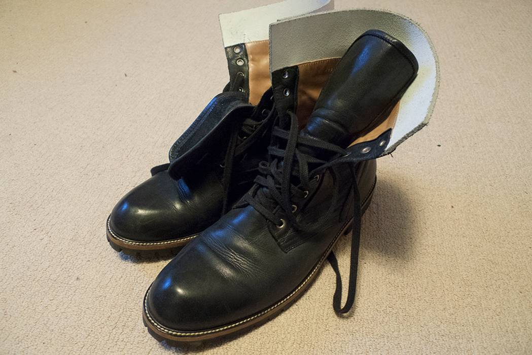 114f5cb987d8 Dries Van Noten Leather Combat Boot Size 11 - Boots for Sale - Grailed