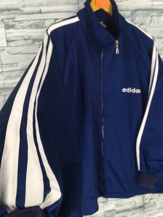 ef08b798eaab Adidas ADIDAS Jacket Track Top XLarge Vintage 90 s Adidas Trefoil Three  Stripes Track Top Sportswear Blue