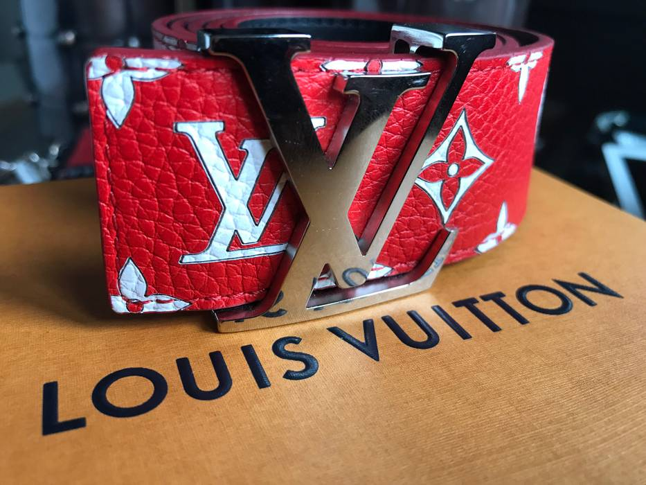 20aee2d2a145 Supreme Red Louis Vuitton x Supreme Leathe Belt Size one size ...