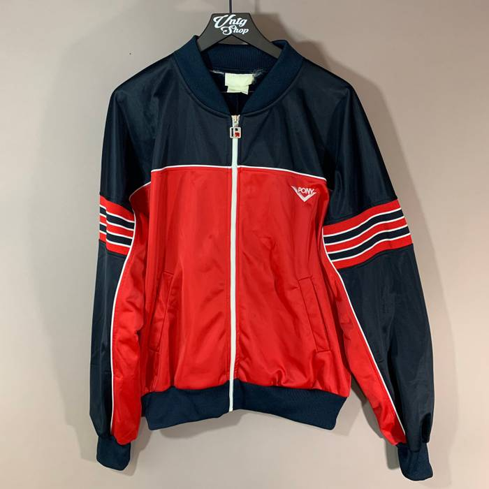 566653ed29f Vintage Vintage PONY Colorblock Zip Up Track Jacket Size US M   EU 48-50